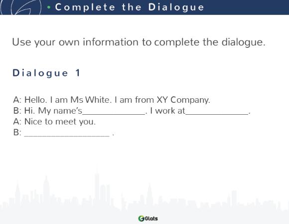ビジネス英会話コース1の教材