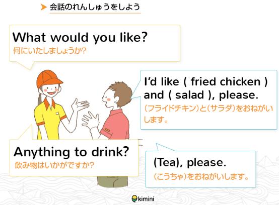 英語で食べ物を注文!