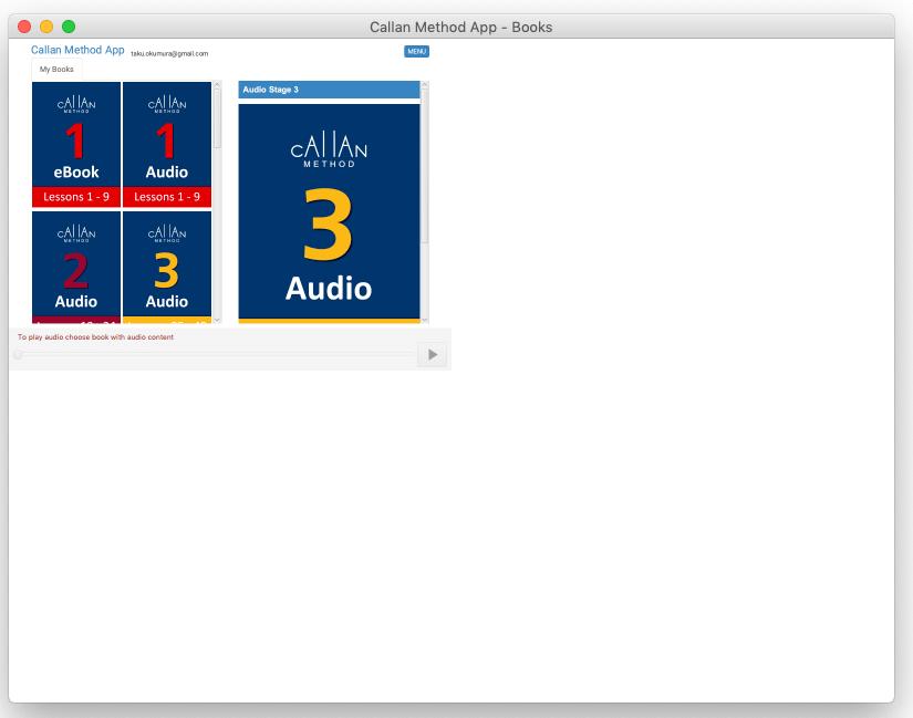 カランメソッドアプリが正常に表示されていない状態