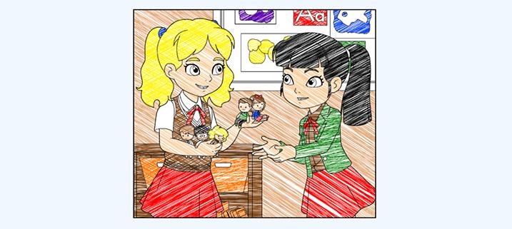 ABCマウスの塗り絵