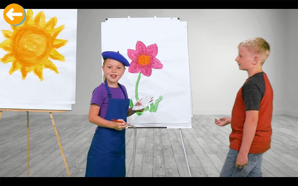 ネイティブスピーカーの子供が出演する動画