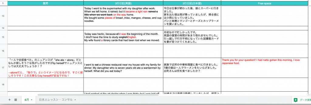 BBS英会話の3行英語日記